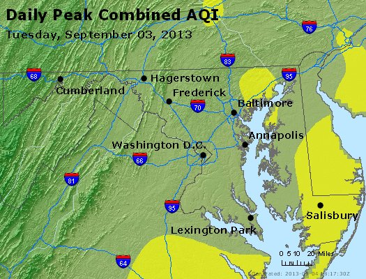Peak AQI - http://files.airnowtech.org/airnow/2013/20130903/peak_aqi_maryland.jpg