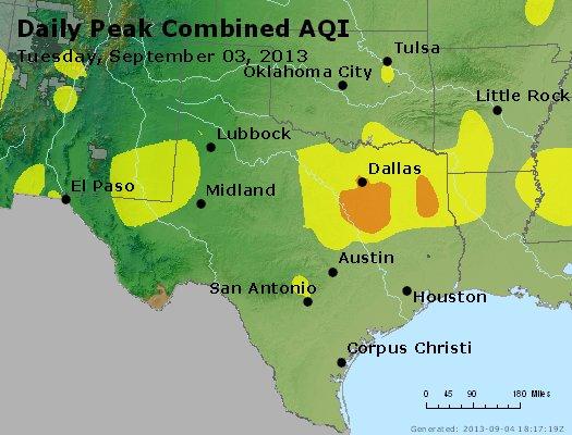 Peak AQI - http://files.airnowtech.org/airnow/2013/20130903/peak_aqi_tx_ok.jpg