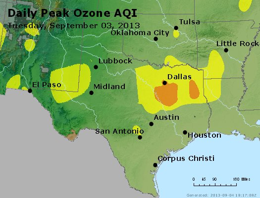 Peak Ozone (8-hour) - http://files.airnowtech.org/airnow/2013/20130903/peak_o3_tx_ok.jpg