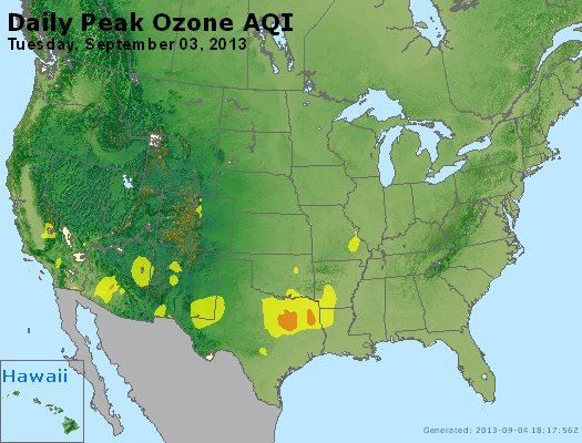 Peak Ozone (8-hour) - http://files.airnowtech.org/airnow/2013/20130903/peak_o3_usa.jpg