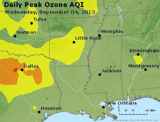 Peak Ozone (8-hour) - http://files.airnowtech.org/airnow/2013/20130904/peak_o3_ar_la_ms.jpg