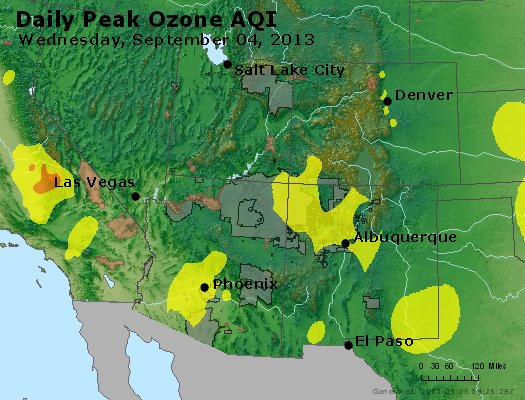 Peak Ozone (8-hour) - http://files.airnowtech.org/airnow/2013/20130904/peak_o3_co_ut_az_nm.jpg