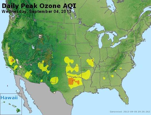 Peak Ozone (8-hour) - http://files.airnowtech.org/airnow/2013/20130904/peak_o3_usa.jpg