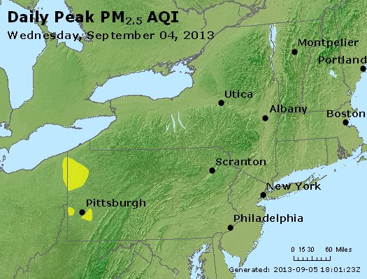 Peak Particles PM<sub>2.5</sub> (24-hour) - http://files.airnowtech.org/airnow/2013/20130904/peak_pm25_ny_pa_nj.jpg
