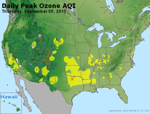 Peak Ozone (8-hour) - http://files.airnowtech.org/airnow/2013/20130905/peak_o3_usa.jpg