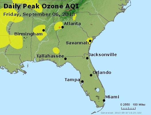 Peak Ozone (8-hour) - http://files.airnowtech.org/airnow/2013/20130906/peak_o3_al_ga_fl.jpg