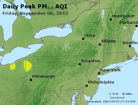 Peak Particles PM<sub>2.5</sub> (24-hour) - http://files.airnowtech.org/airnow/2013/20130906/peak_pm25_ny_pa_nj.jpg