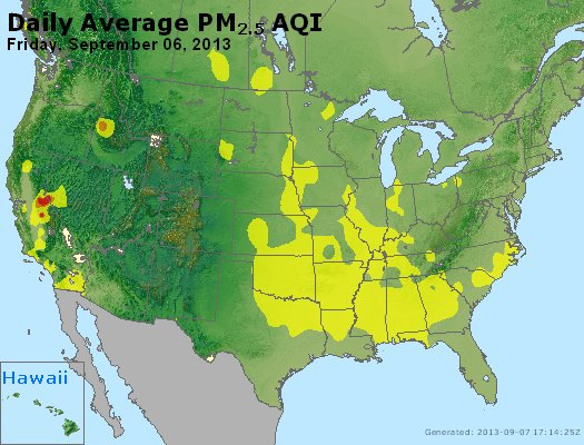 Peak Particles PM<sub>2.5</sub> (24-hour) - http://files.airnowtech.org/airnow/2013/20130906/peak_pm25_usa.jpg