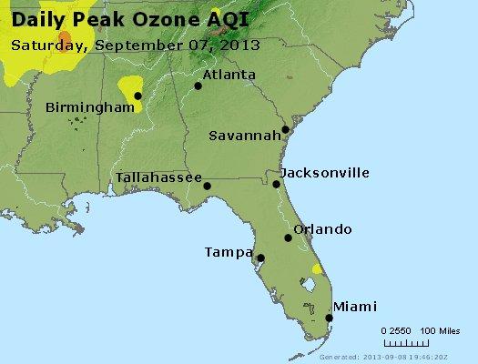 Peak Ozone (8-hour) - http://files.airnowtech.org/airnow/2013/20130907/peak_o3_al_ga_fl.jpg