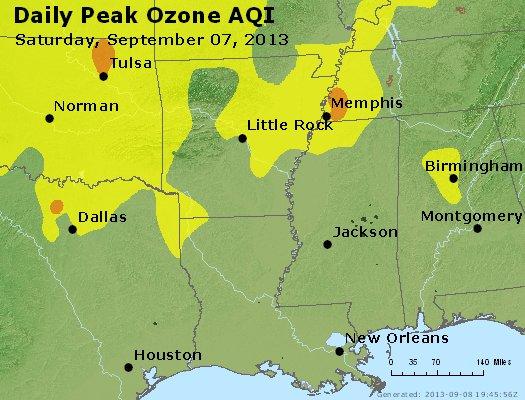 Peak Ozone (8-hour) - http://files.airnowtech.org/airnow/2013/20130907/peak_o3_ar_la_ms.jpg