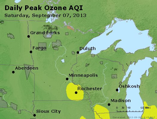 Peak Ozone (8-hour) - http://files.airnowtech.org/airnow/2013/20130907/peak_o3_mn_wi.jpg