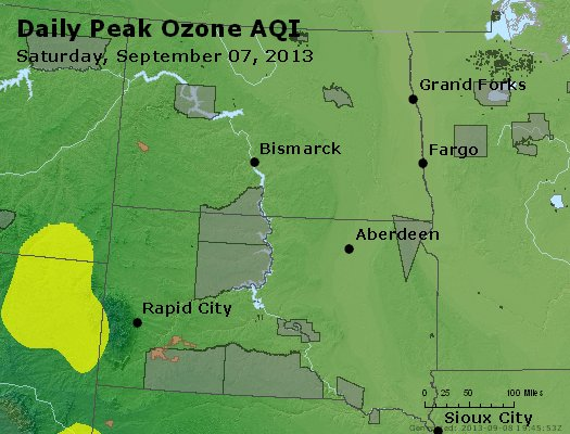Peak Ozone (8-hour) - http://files.airnowtech.org/airnow/2013/20130907/peak_o3_nd_sd.jpg