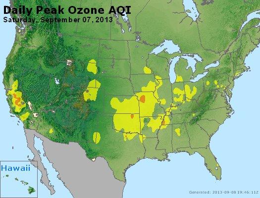 Peak Ozone (8-hour) - http://files.airnowtech.org/airnow/2013/20130907/peak_o3_usa.jpg