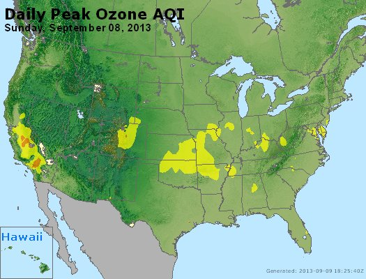 Peak Ozone (8-hour) - http://files.airnowtech.org/airnow/2013/20130908/peak_o3_usa.jpg