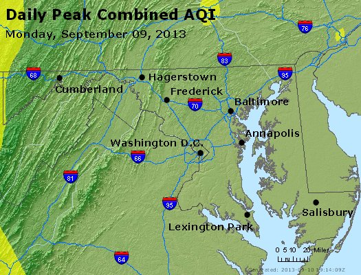 Peak AQI - http://files.airnowtech.org/airnow/2013/20130909/peak_aqi_maryland.jpg