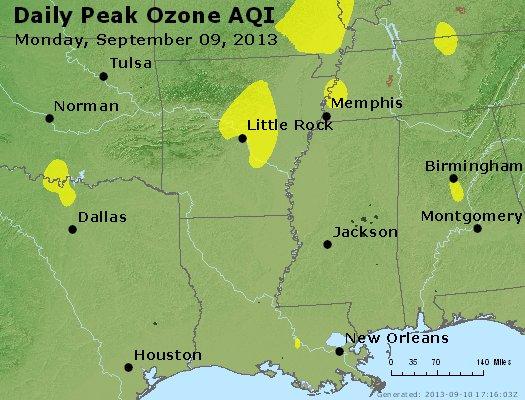 Peak Ozone (8-hour) - http://files.airnowtech.org/airnow/2013/20130909/peak_o3_ar_la_ms.jpg