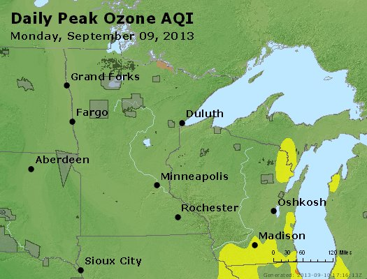 Peak Ozone (8-hour) - http://files.airnowtech.org/airnow/2013/20130909/peak_o3_mn_wi.jpg