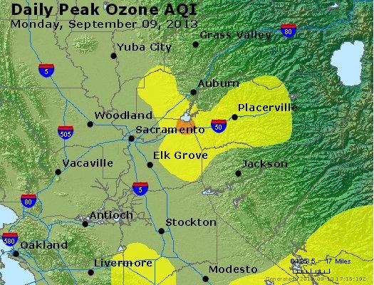Peak Ozone (8-hour) - http://files.airnowtech.org/airnow/2013/20130909/peak_o3_sacramento_ca.jpg