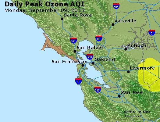 Peak Ozone (8-hour) - http://files.airnowtech.org/airnow/2013/20130909/peak_o3_sanfrancisco_ca.jpg