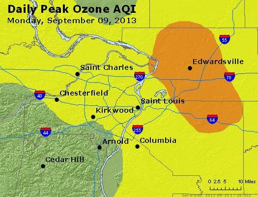 Peak Ozone (8-hour) - http://files.airnowtech.org/airnow/2013/20130909/peak_o3_stlouis_mo.jpg