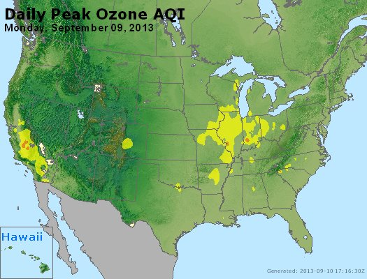 Peak Ozone (8-hour) - http://files.airnowtech.org/airnow/2013/20130909/peak_o3_usa.jpg
