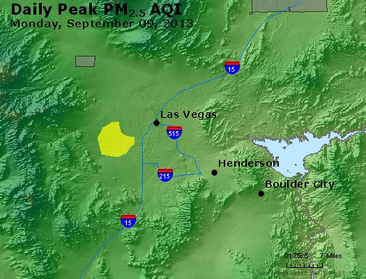 Peak Particles PM<sub>2.5</sub> (24-hour) - http://files.airnowtech.org/airnow/2013/20130909/peak_pm25_lasvegas_nv.jpg