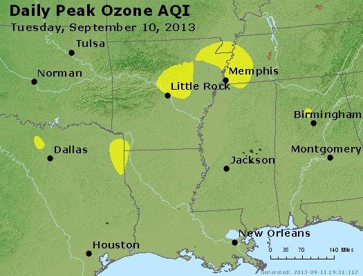Peak Ozone (8-hour) - http://files.airnowtech.org/airnow/2013/20130910/peak_o3_ar_la_ms.jpg