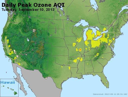 Peak Ozone (8-hour) - http://files.airnowtech.org/airnow/2013/20130910/peak_o3_usa.jpg