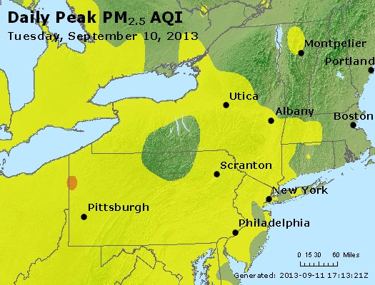 Peak Particles PM<sub>2.5</sub> (24-hour) - http://files.airnowtech.org/airnow/2013/20130910/peak_pm25_ny_pa_nj.jpg