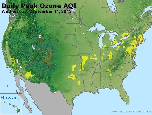 Peak Ozone (8-hour) - http://files.airnowtech.org/airnow/2013/20130911/peak_o3_usa.jpg