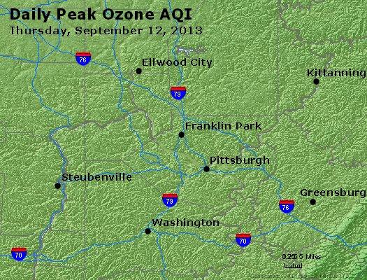 Peak Ozone (8-hour) - http://files.airnowtech.org/airnow/2013/20130912/peak_o3_pittsburgh_pa.jpg