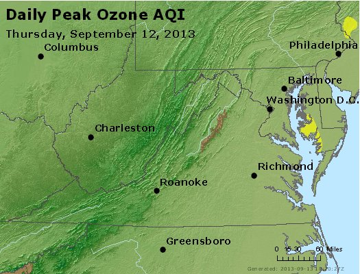 Peak Ozone (8-hour) - http://files.airnowtech.org/airnow/2013/20130912/peak_o3_va_wv_md_de_dc.jpg