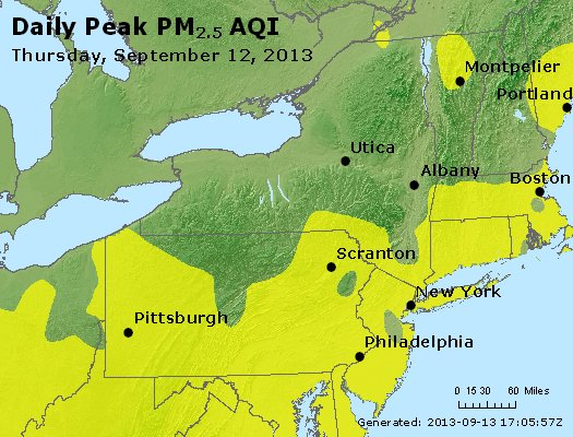 Peak Particles PM<sub>2.5</sub> (24-hour) - http://files.airnowtech.org/airnow/2013/20130912/peak_pm25_ny_pa_nj.jpg