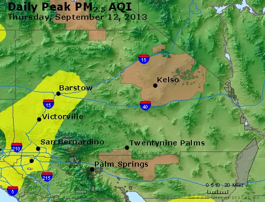 Peak Particles PM<sub>2.5</sub> (24-hour) - http://files.airnowtech.org/airnow/2013/20130912/peak_pm25_sanbernardino_ca.jpg