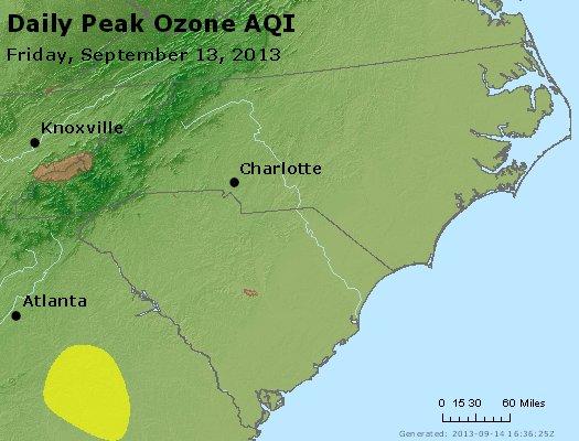 Peak Ozone (8-hour) - http://files.airnowtech.org/airnow/2013/20130913/peak_o3_nc_sc.jpg