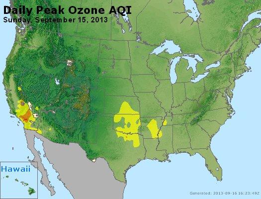 Peak Ozone (8-hour) - http://files.airnowtech.org/airnow/2013/20130915/peak_o3_usa.jpg