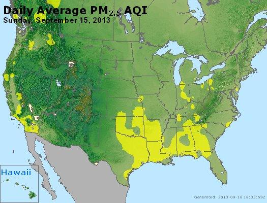 Peak Particles PM<sub>2.5</sub> (24-hour) - http://files.airnowtech.org/airnow/2013/20130915/peak_pm25_usa.jpg
