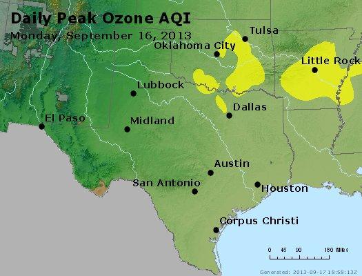Peak Ozone (8-hour) - http://files.airnowtech.org/airnow/2013/20130916/peak_o3_tx_ok.jpg