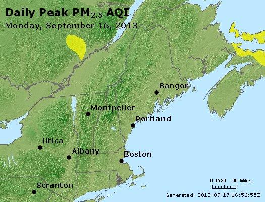 Peak Particles PM<sub>2.5</sub> (24-hour) - http://files.airnowtech.org/airnow/2013/20130916/peak_pm25_vt_nh_ma_ct_ri_me.jpg