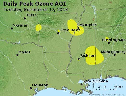 Peak Ozone (8-hour) - http://files.airnowtech.org/airnow/2013/20130917/peak_o3_ar_la_ms.jpg