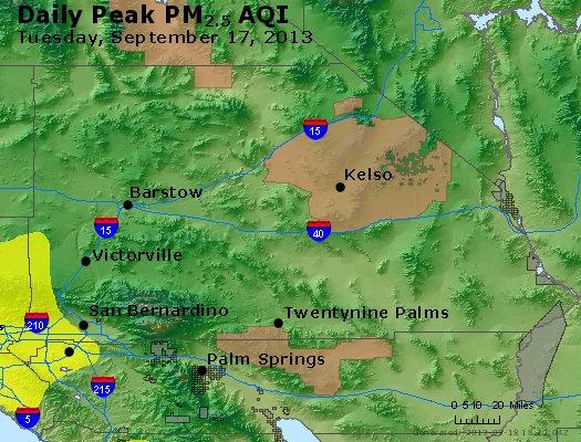 Peak Particles PM<sub>2.5</sub> (24-hour) - http://files.airnowtech.org/airnow/2013/20130917/peak_pm25_sanbernardino_ca.jpg