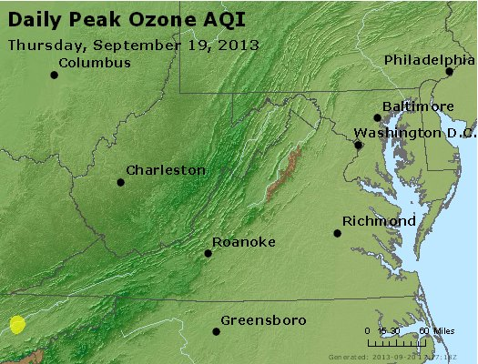 Peak Ozone (8-hour) - http://files.airnowtech.org/airnow/2013/20130919/peak_o3_va_wv_md_de_dc.jpg