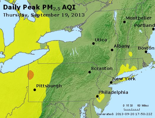 Peak Particles PM<sub>2.5</sub> (24-hour) - http://files.airnowtech.org/airnow/2013/20130919/peak_pm25_ny_pa_nj.jpg
