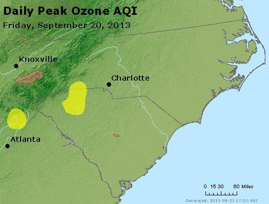 Peak Ozone (8-hour) - http://files.airnowtech.org/airnow/2013/20130920/peak_o3_nc_sc.jpg