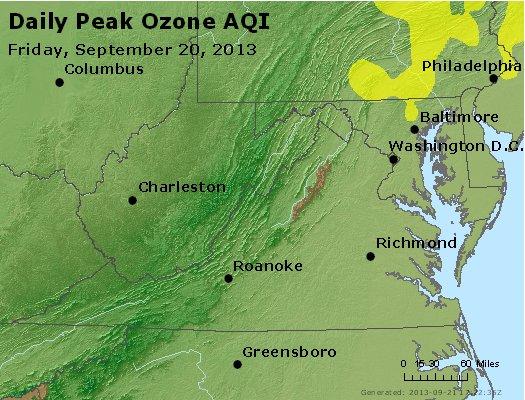 Peak Ozone (8-hour) - http://files.airnowtech.org/airnow/2013/20130920/peak_o3_va_wv_md_de_dc.jpg