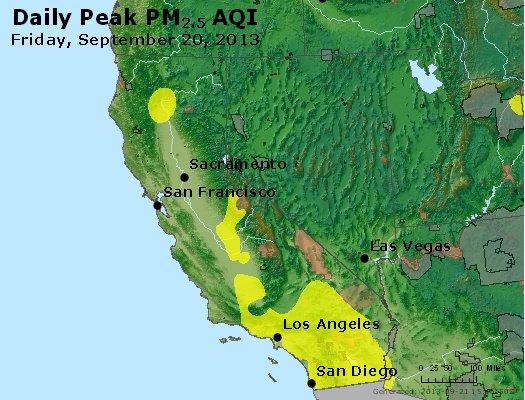 Peak Particles PM<sub>2.5</sub> (24-hour) - http://files.airnowtech.org/airnow/2013/20130920/peak_pm25_ca_nv.jpg