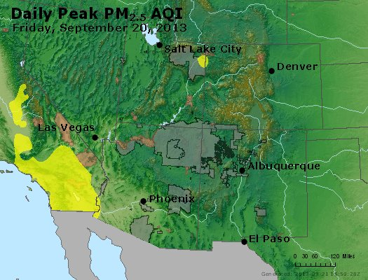 Peak Particles PM<sub>2.5</sub> (24-hour) - http://files.airnowtech.org/airnow/2013/20130920/peak_pm25_co_ut_az_nm.jpg