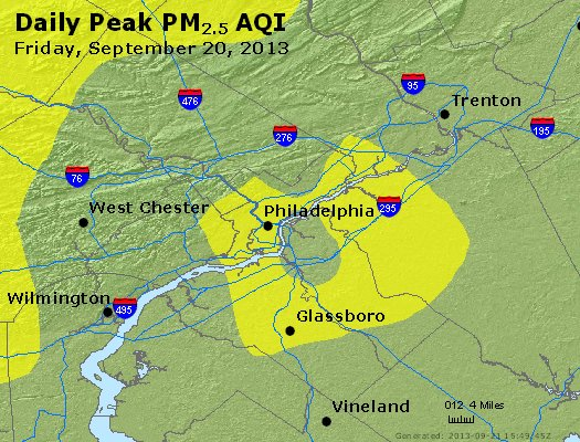 Peak Particles PM<sub>2.5</sub> (24-hour) - http://files.airnowtech.org/airnow/2013/20130920/peak_pm25_philadelphia_pa.jpg