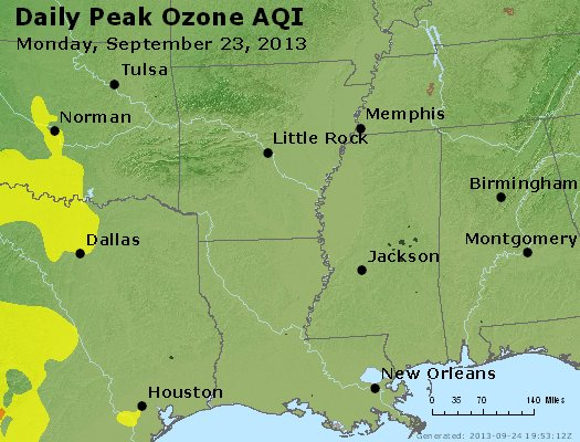 Peak Ozone (8-hour) - http://files.airnowtech.org/airnow/2013/20130923/peak_o3_ar_la_ms.jpg
