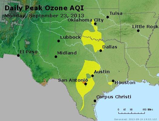 Peak Ozone (8-hour) - http://files.airnowtech.org/airnow/2013/20130923/peak_o3_tx_ok.jpg